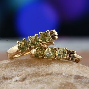 Jewelry - Genuine Yellow Apatite 14K YG/Sterling Earrings